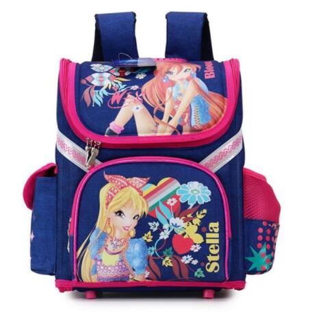 Brand Schoolbag Grade 1-3-5 Princess Girl Backpack School New Children Cartoon Cat Kids Backpack Orthopedic School Bag For Girls 2017 grade 1 3 5 princess girl new school backpack children cartoon cat kids backpack orthopedic school bag for boys