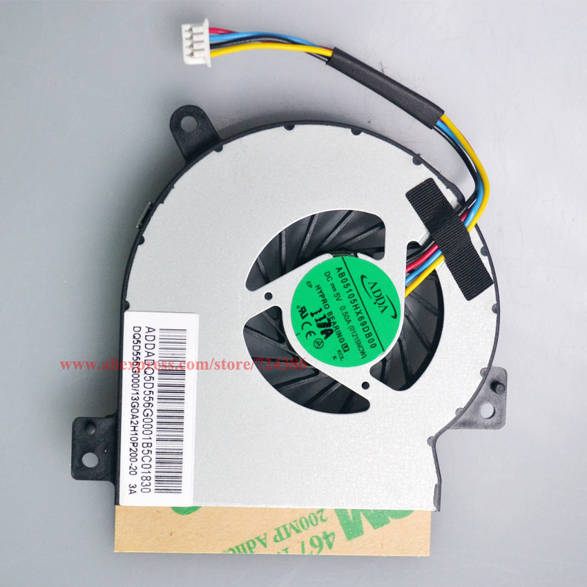 New 1215N cpu fan for ASUS EPC VX6 cooler 1215CT 1215B EPC 1215T 1215P fan Brand new genuine 1215N VX6 laptop cpu cooling fan new fan for asus x200 x200ca
