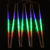 8 pçs/set Multi-cor 50 CM Meteor Tubo Chuveiro de Chuva LEVOU Ao Ar Livre Luzes De Natal Festa de Casamento Jardim Enfeites de Natal Luz da corda
