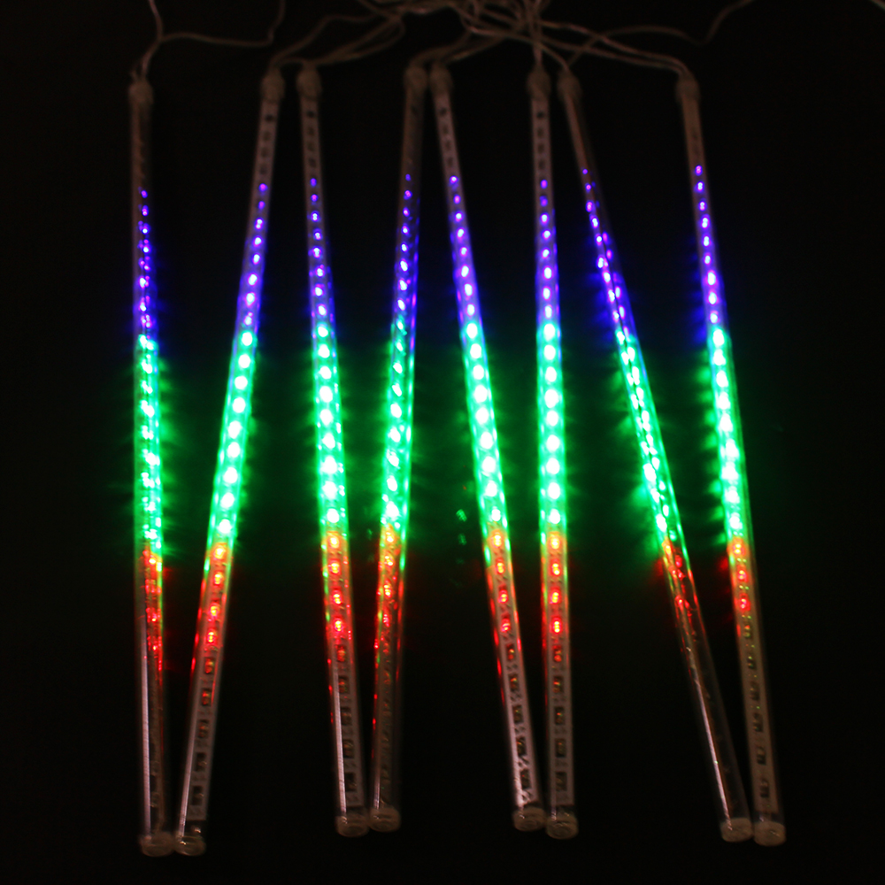 8pcs/set Multi color 50CM Meteor Shower Rain Tube Outdoor ...