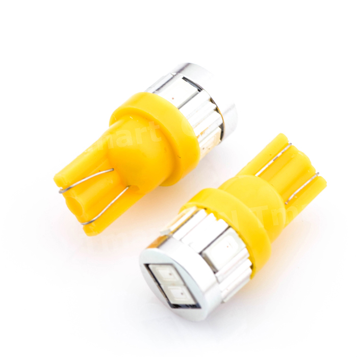 Hot Selling 10x T10 W5W 194 168 6 LED 5630 SMD Pure White Car Auto Turn Signal Wedge Side Parking Lights Bulb Lamp DC12V