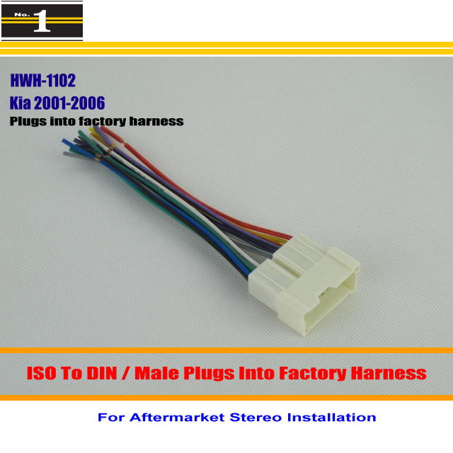 radio wires promotion shop for promotional radio wires on for kia sorrento lx spectra male iso radio wire cable wiring harness car stereo adapter connector plugs into factory harness