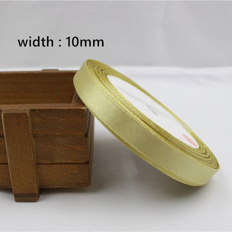A-166910, 10 мм 31 цвет на выбор 25 ярдов шелковая атласная лента, свадебные декоративные ленты, подарочная упаковка, материалы ручной работы - Цвет: 018