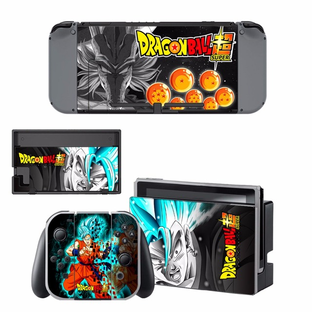 ARRKEO Dragon Ball Xenoverse 2 Protective Cover Vinyl Decal Skin Sticker for Nintend Switch NS Console & Wireless Controller  1