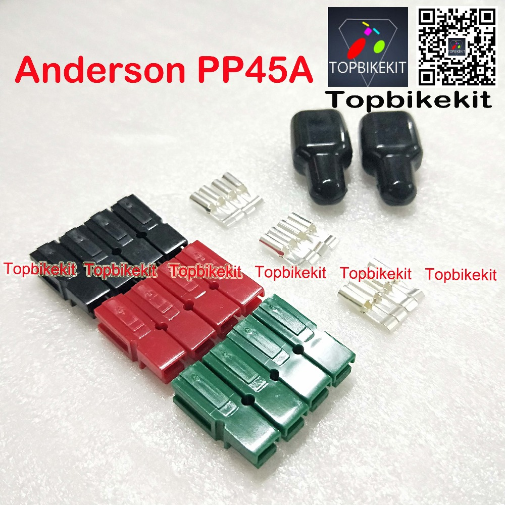 10 Pairs of Anderson 45 Amp Red//Black PP45A power poles Powerpole connectors