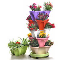 6 Tier Stackable Strawberry Herb Flower Vegetable Planter Balcony kitchen Succulent Pots Home Garden Decoration