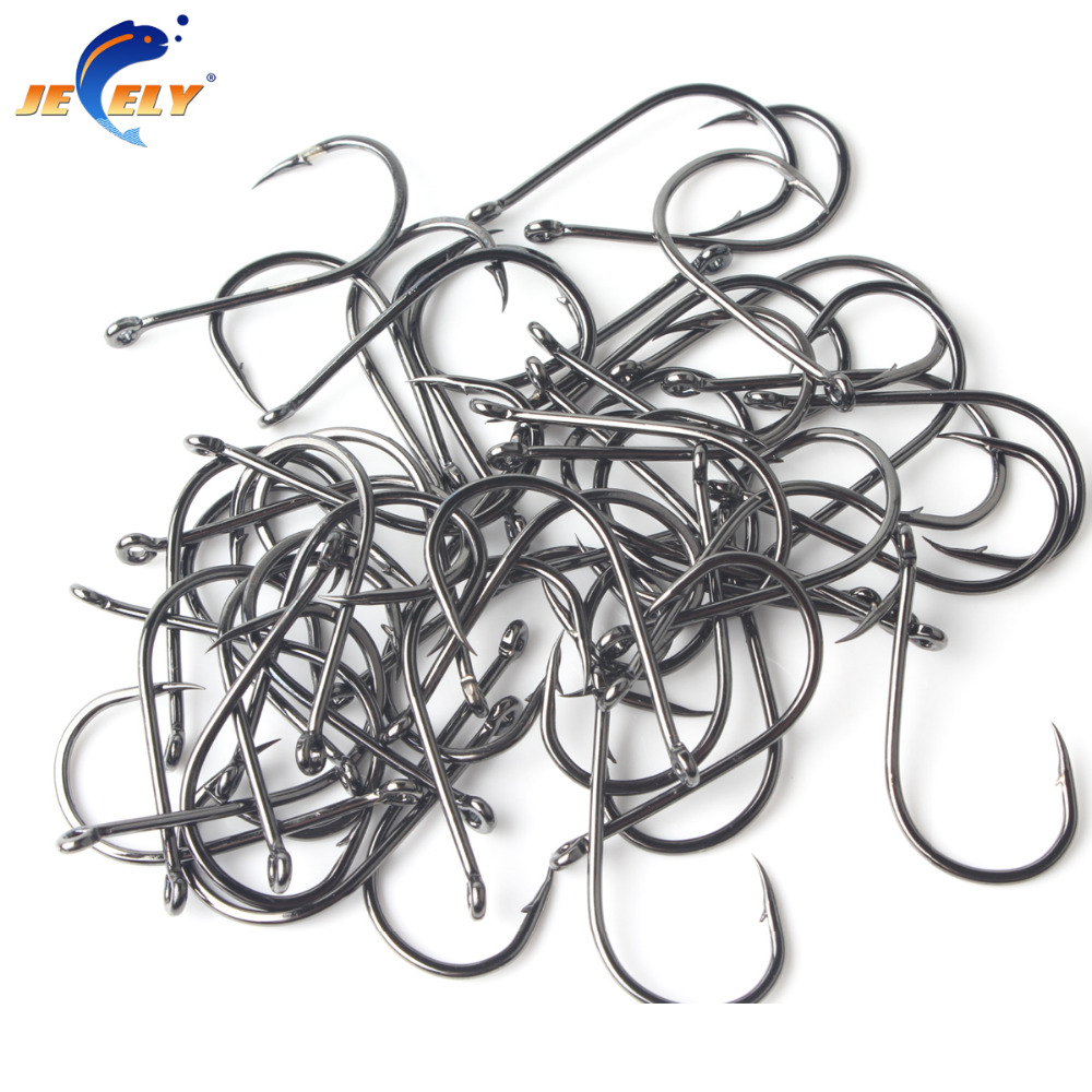 <font><b>100pcs</b></font> Tungsten Alloy <font><b>Fishing</b></font> <font><b>Hook</b></font> CHINU with Ring Barbed Freshwater <font><b>Hook</b></font> image