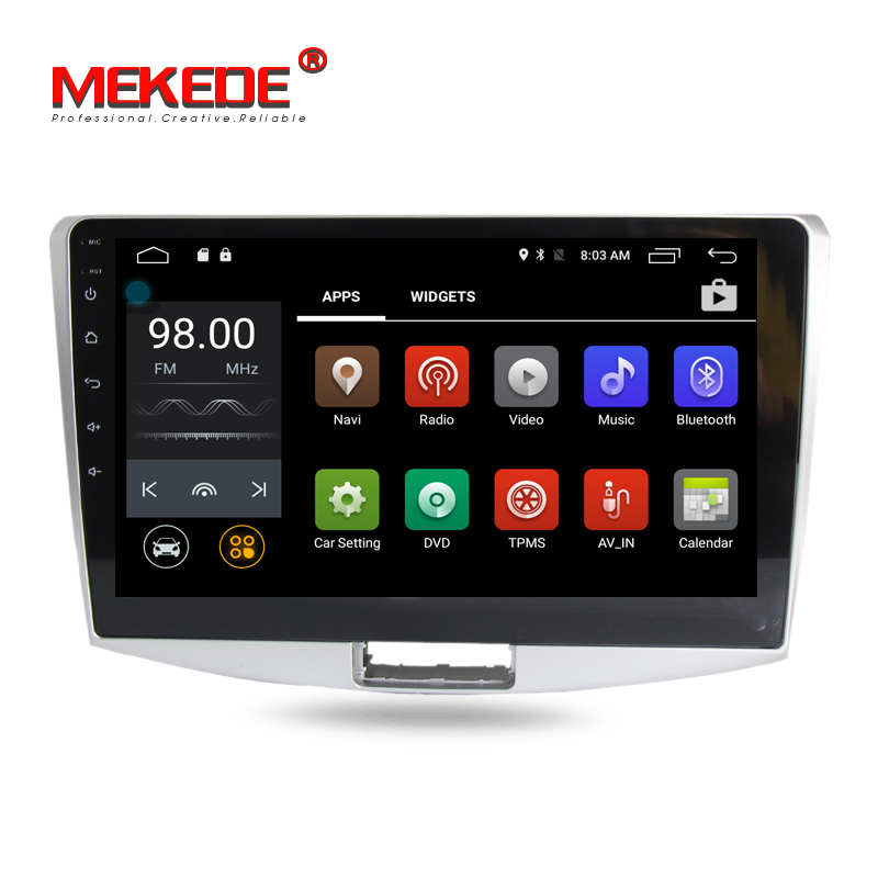 10 1 inch Android 7 1 Car Stereo Media GPS Navigation Auto Radio Player For Volkswagen