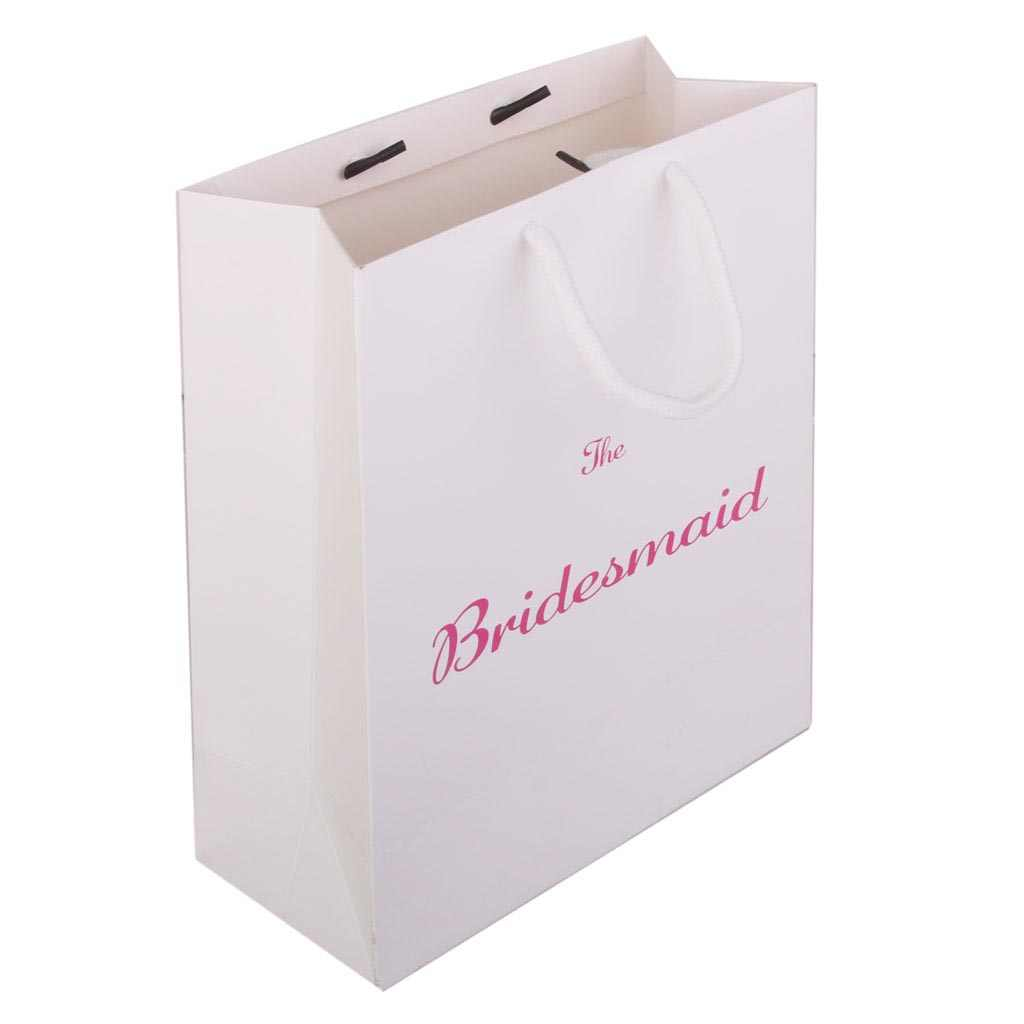 Pack of 3 Wedding Favour Paper Tote Bags The Bridesmaid Printed Present Hen Party