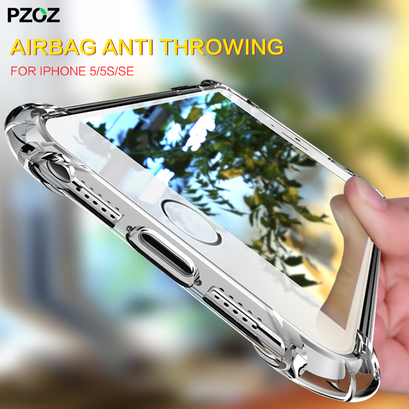 PZOZ for iPhone 5 5s se case 360 cover shockproof housing original bumper on fundas transparent silicone for iPhone 5se 5 s case