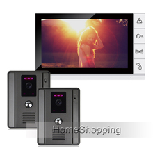 FREE SHIPPING New Home 9″ Color Screen Video Door Phone Intercom System + 2 Night Vision Door bell Camera + 1 Monitor IN STOCK