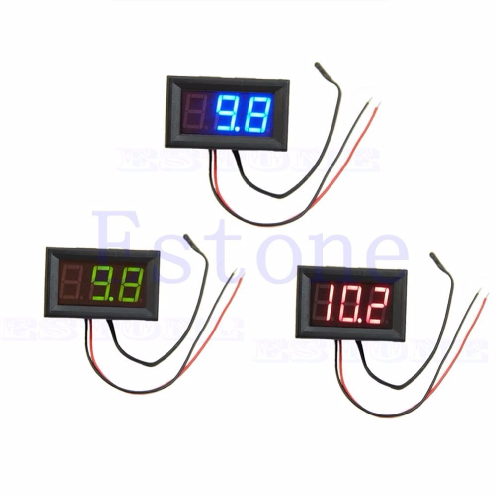 Digital LED 50 110C Thermometer Car Temperature Monitor Panel Meter DC 12v t15