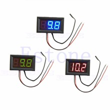 Digital LED -50 ~ 110C Thermometer Car Temperature Monitor Panel Meter DC 12v  t15