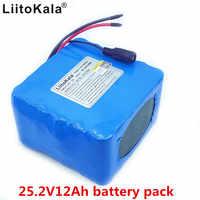 Nuevo Liitokala 24V 12ah batería de iones de litio 25,2 V 12000mA 6S 3P batería recargable bms 15A tablero de protección