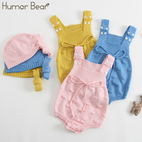 Humor Bear Baby Girls clothing 2018 New Handmade Sweater Newborn Baby Clothes Infant Knitted Jumpsuit