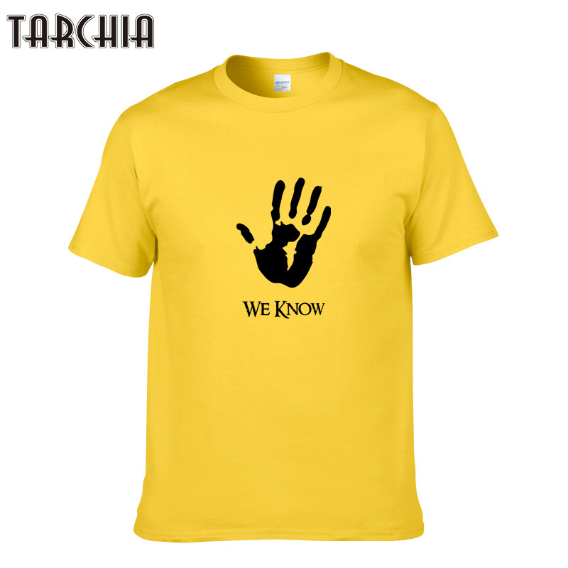 CTARCHIA Men T-Shirts WE KNOW Printing Fashion Casual Slim Fit For Mens Short Sleeve Hip Pop T-shirt Male 100% Cotton Tees Tops
