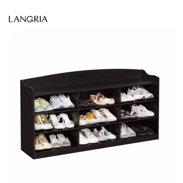 LANGRIA Brand 9Cube Shoe Rack Composite MDF Wood And Composite Board ...