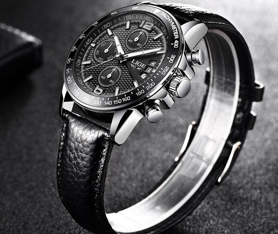 HTB1S8hISNnaK1RjSZFBq6AW7VXaV LIGE New Mens Watches Top Brand Luxury Stopwatch Sport waterproof Quartz Watch Man Fashion Business Clock relogio masculino+Box