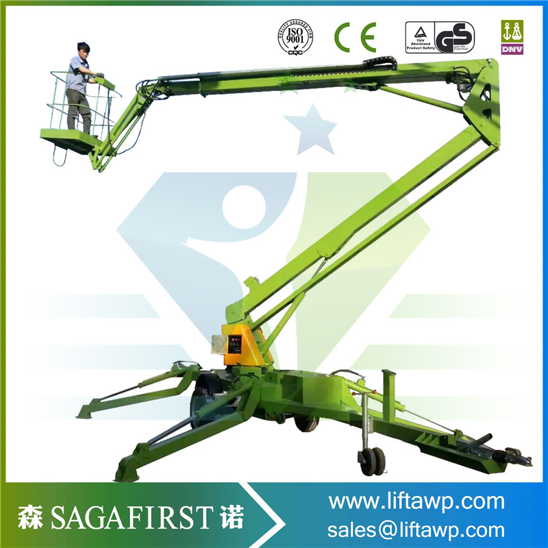 12m Working Height Articulated Boom Lift For Cleaning