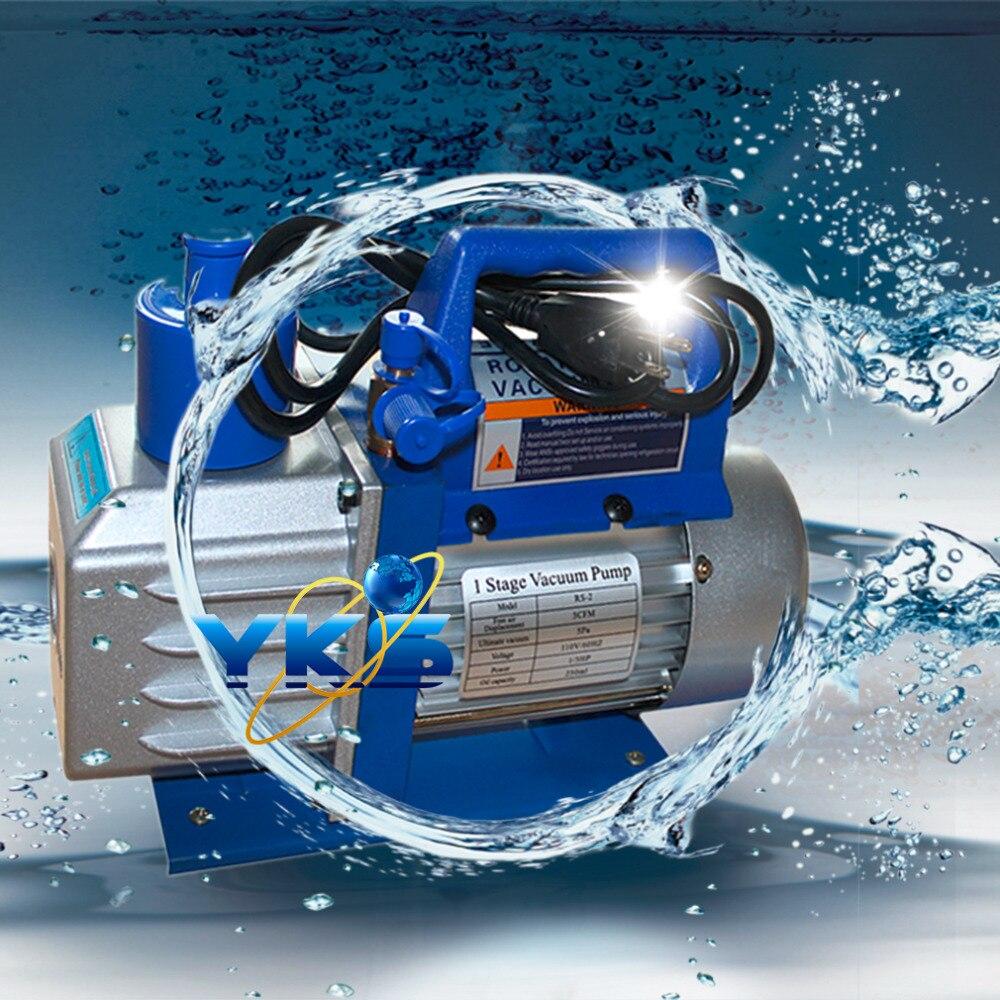 Professionnel 5CFM 1/3HP 1720 RPM 110 V unique étage rotatif à palettes profonde pompe à vide outil de climatisation vente chaude navire des états-unis