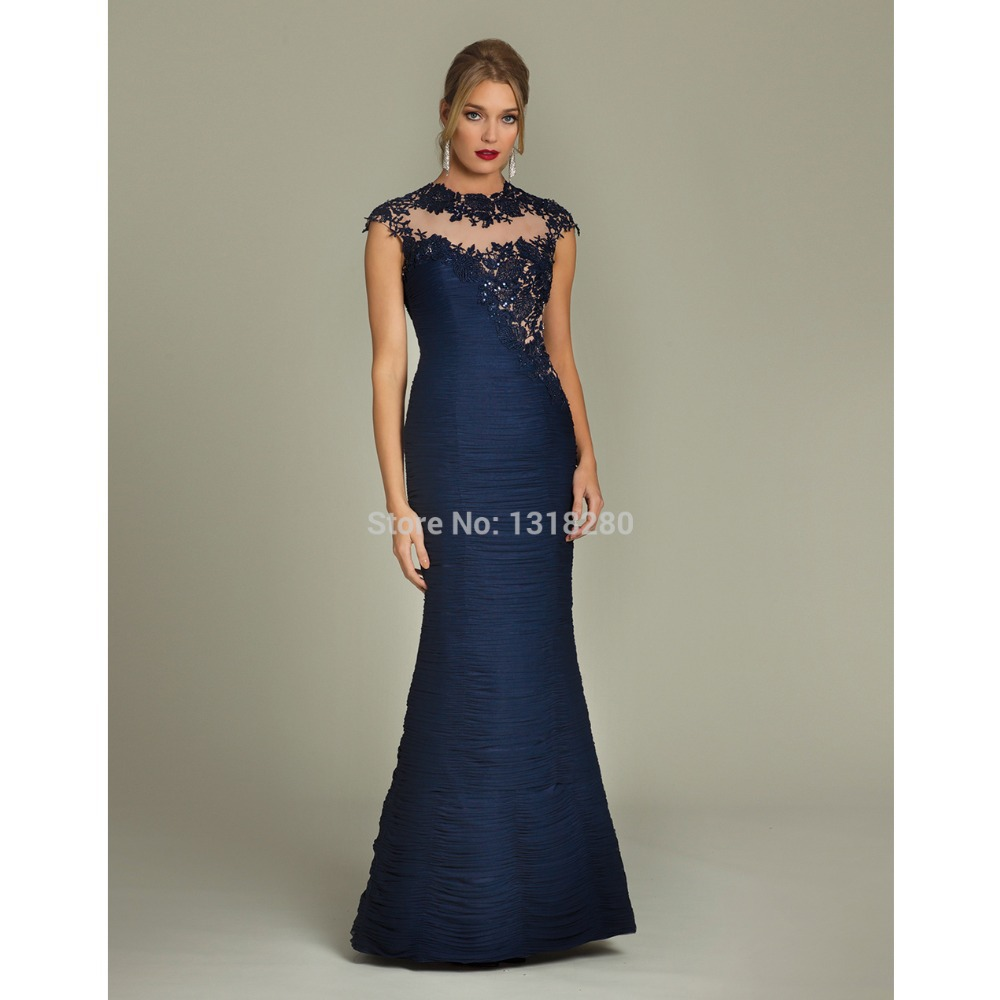Midnight Blue Evening Gowns