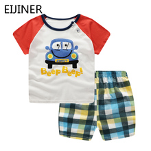 цена на Cotton Baby Boys Clothes Set 2Pcs/ Summer 2019 New Baby Boy Clothing Sets Casual Sport Suits Kids Children Boys Clothes