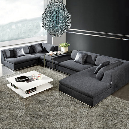 Corner Living Room Table Funky Northern European Sofa Furniture With Poliester Fabric Bm035b