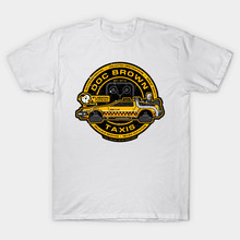 Back To The Future Doc Brown Taxis Print men Clothing Male Slim Fit t shirt Fashion Summer Style  Tees cmt