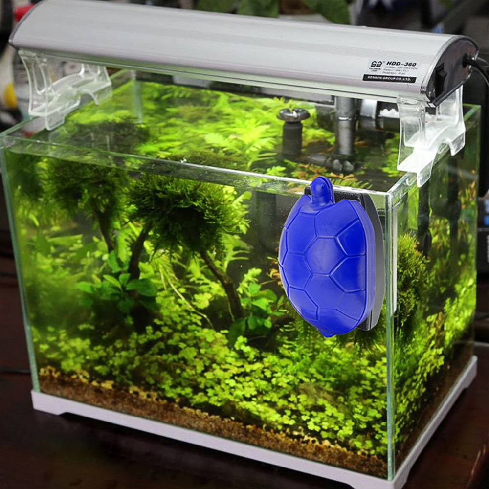 US $16 98 8% OFF|Aquarium Magnetic Fish Tank Cleaner Brush Turtle Design  Magnetic Brush Floating Algae Cleaner for Aquarium Glass Fish Tank Clean-in