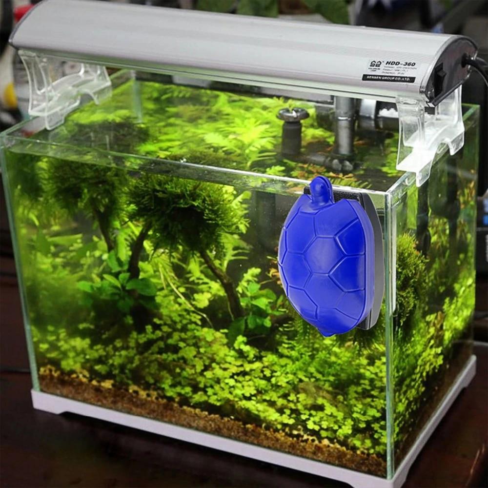 Aquarium Magnetic Fish Tank Cleaner Brush Turtle Design Magnetic Brush Floating Algae Cleaner For Aquarium Glass Fish Tank Clean Cleaning Tools Aliexpress