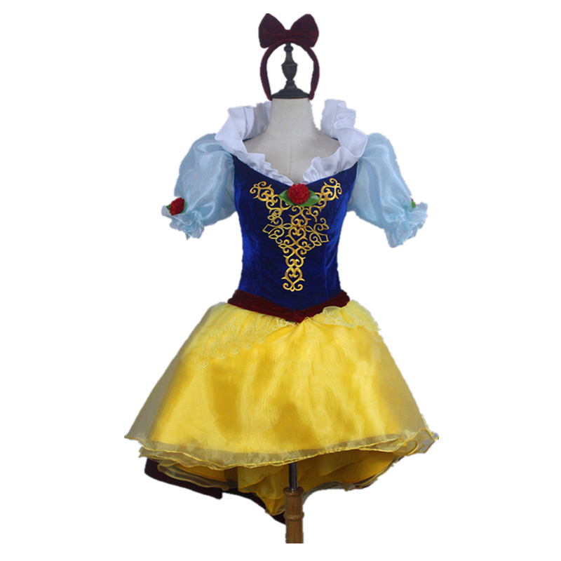 Snow White Dance Dress Cosplay Adult Halloween Cosplay Dress Princess Skirt Costume For Women Dance Party Dress