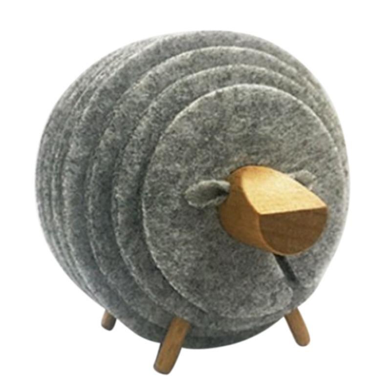 Posavasos antideslizantes con forma de oveja, con aislamiento, tapetes de fieltro de estilo japonés, decoración creativa y la Oficina para el hogar, artesanías regalo lig