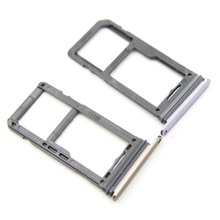 Ganda/Tunggal SIM Card Slot SD Card Tray Holder Adapter untuk Samsung Galaxy G950 S8 S8 Plus G955(China)