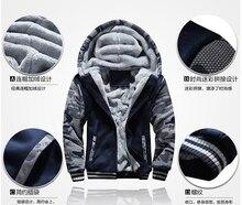 Punisher Skull Casual Hooded Coat Men cardigan Thick Zipper Jacket Sweatshirt