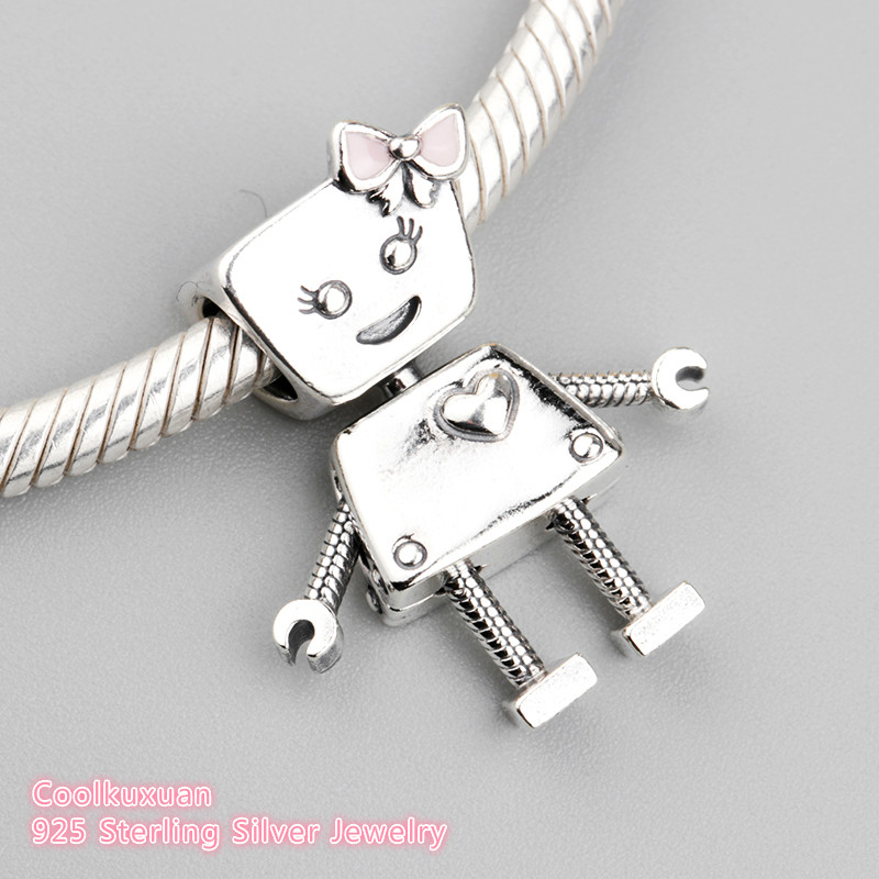 5fb735a82 2018 Spring Authentic 925 Sterling Silver Bella Bot Charm, Pink Enamel  Charm Beads Fit Pandora Charms Bracelet Jewelry Making-in Beads from  Jewelry ...