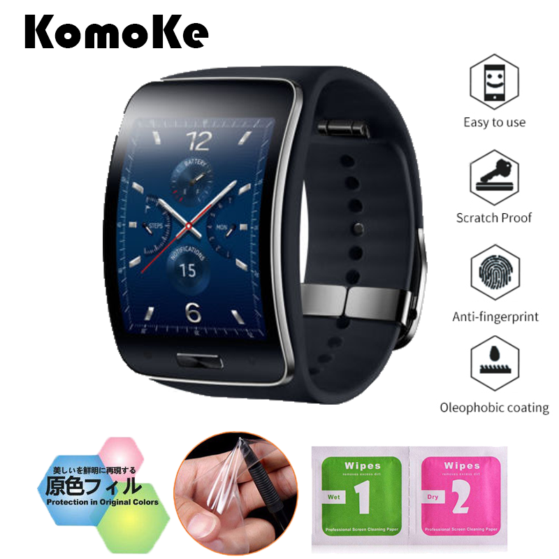 4Pcs/Lot(2Films+2Wipes) For Smart Watch Samsung Galaxy Gear S SM-R750 Soft TPU Ultra HD Clear LCD Screen Protective Film Guard 2sets lcd screen protectors guard film for nintend 2ds clear touch protect protective top bottom seal film for nintend 2ds