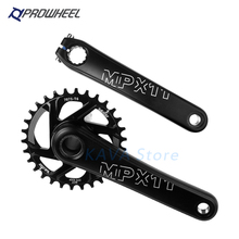цена на PROWHEEL MTB Bike Crankset Aluminum Alloy With Bottom Mountain Bicycle Crankset 8/9/10/11/12 Speed 170/175mm Compatible SRAM