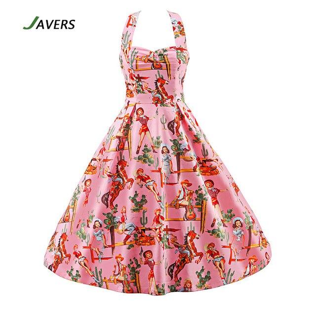 JAVERS] Chica Occidental Patrón de Impresión 1950 s Vintage Robe ...