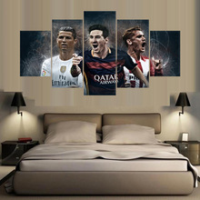 купить 5 Piece real barcelona madrid atletico  Canvas For Living Picture Wall Art HD Decor Modern Artworks Football Poster по цене 372.55 рублей