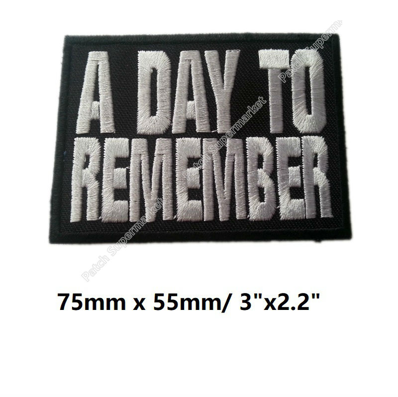 3 A DAY TO REMEMBER Embroidered patches Rock band Music iron on badge Jeremy McKinnon Violence