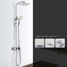 Germany BMD copper shower faucet set square shower shower set function three недорого