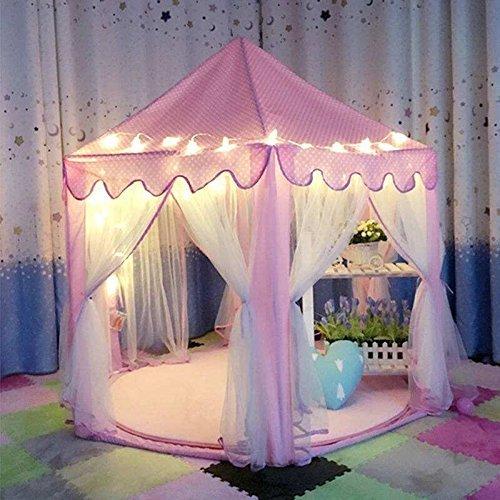 los nios juegan tienda casa rosa princesa castillo jugar carpa infantil casa de juegos para nios con luces de interior nios t