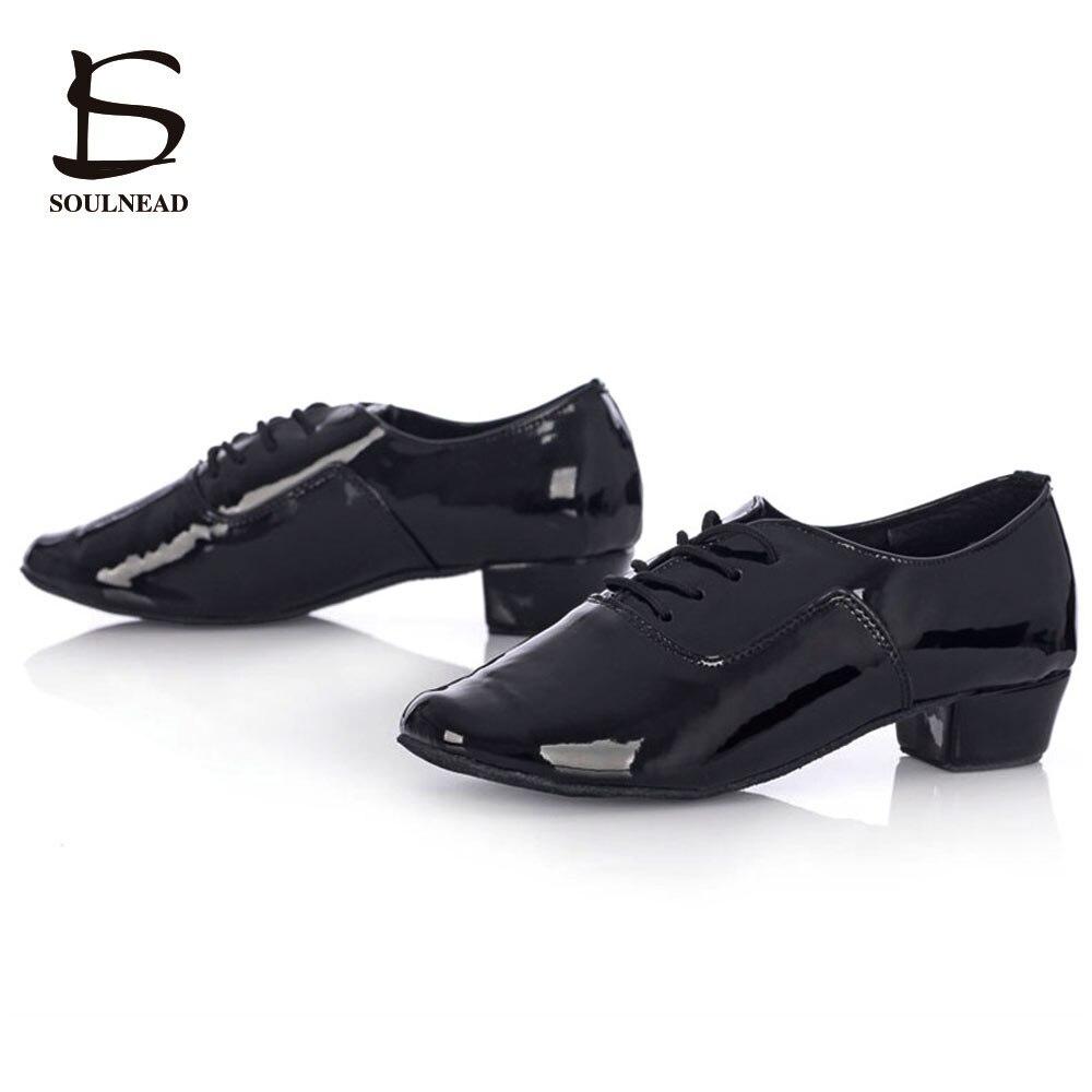 7387edd263 Adulto Sapatos de Dança Salsa Mens Sapatos Baratos Sapatos de Dança Latina  Ballroom Tango Dancing Shoes Preto Branco PU Zapatos de baile latino hombre