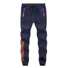 Осенне-зимние Брендовые мужские штаны, облегающие повседневные длинные штаны, спортивная одежда, хлопковые мужские штаны свободного размера плюс, темно-синие спортивные штаны 5XL MT201