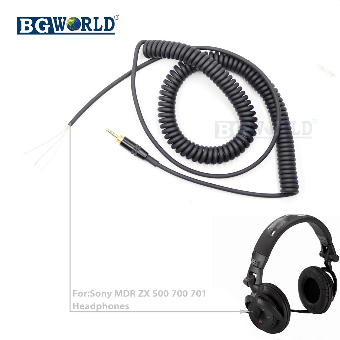 bgworld replacement dj headphone cable cord line plug