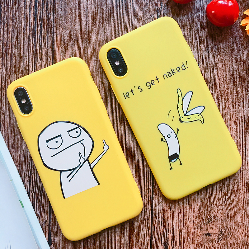 Funny Cartoon Giraffe Phone Case For iPhone 7 8 Plus TPU Silicone Back Cover for iPhone X XR XS Max 6 6S Plus 5 5S SE Soft Case (22)