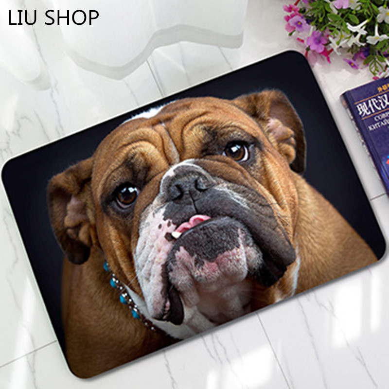LIU doormat pug dog 3D printed cute cat go away carpet felt anti-skid rubber pad bedroom study Carmen printing mats floor rug