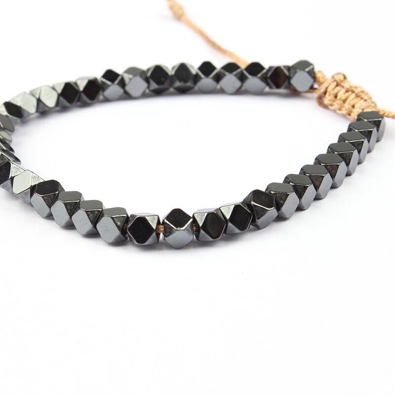 Handmade Simple Bracelet Black Metal Bead Bracelet Adjustable ...