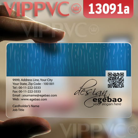 13091 print own business cards - matte faces translucent card  0.36mm thickness