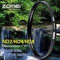 Zomei 52/55/58/62/67/72/77/82 nd filtro de densidade neutra nd2 nd4 nd8 para canon nikon olympus sony pentax sigma lente da câmera hoya